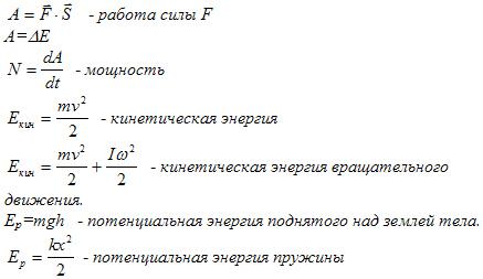 основные уравнения физики